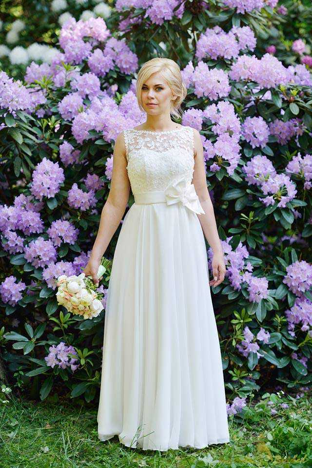 Simple A-Line Wedding Dress
