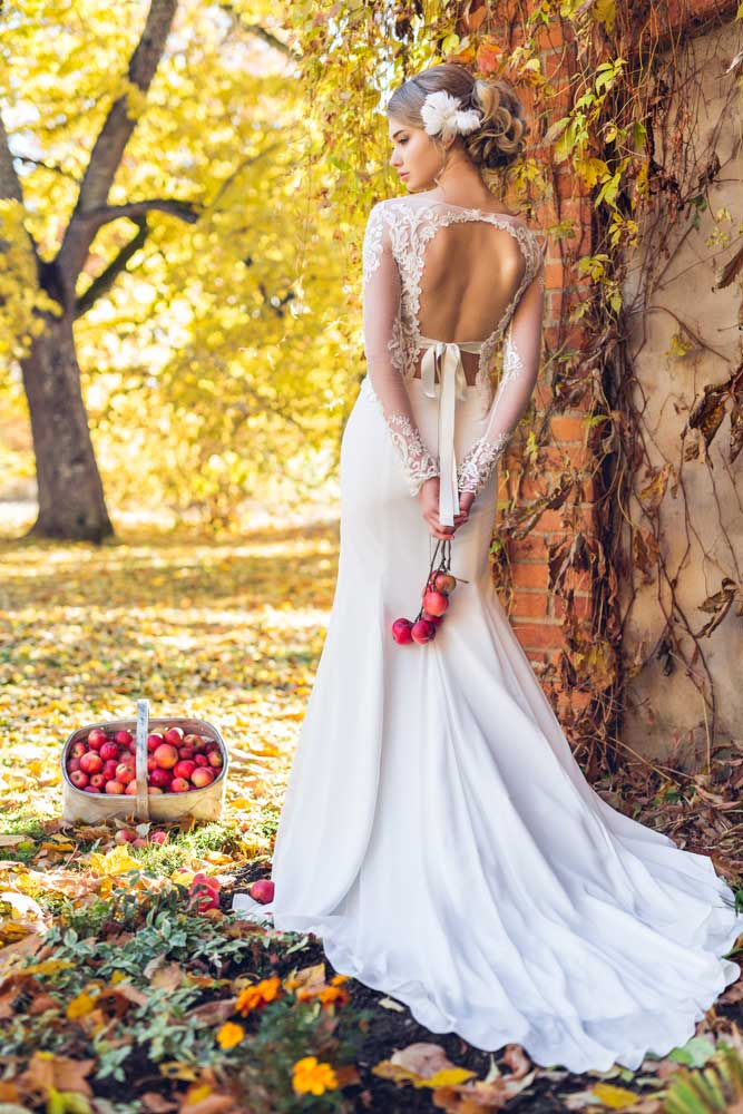 fishtail wedding dress