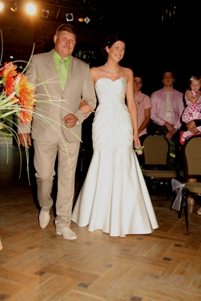 Satin Fishtail Wedding Dress