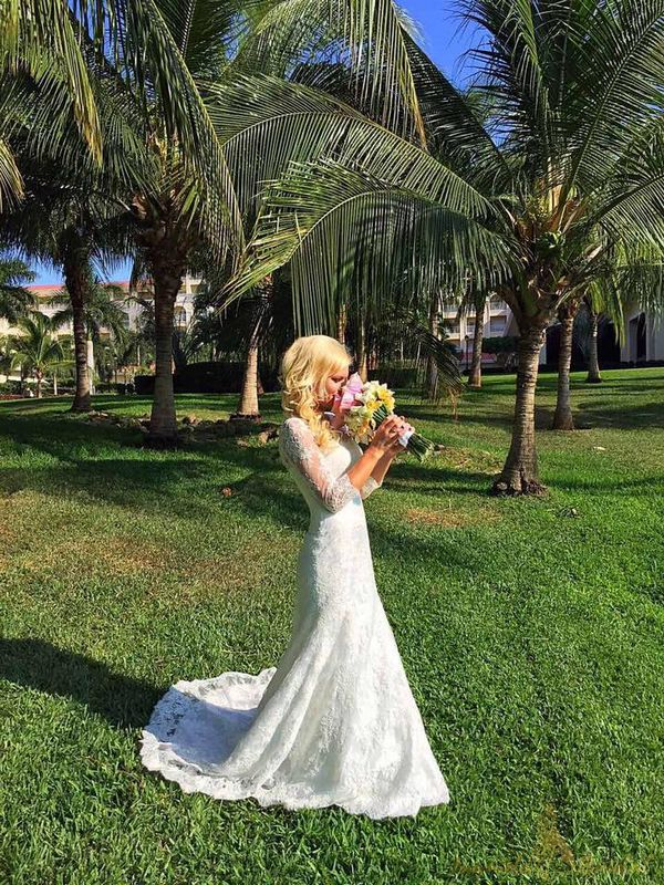 Fishtail Wedding Dress with Sleeves: