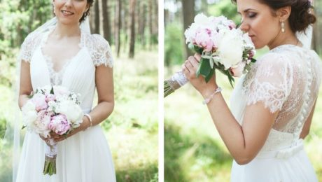 V-Neck A-Line Wedding Dress
