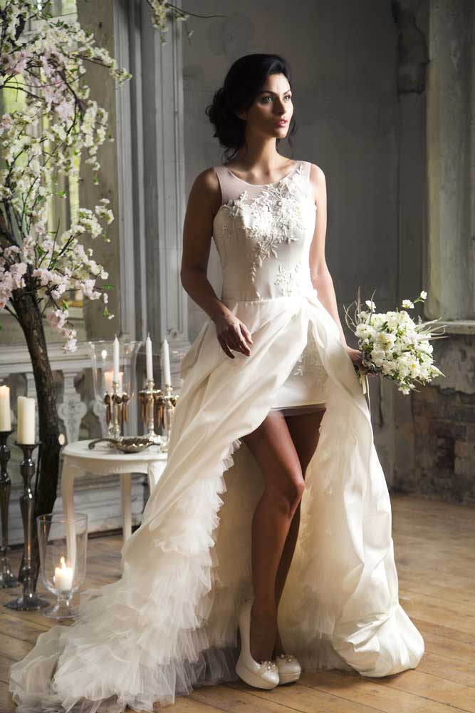 unusual A line wedding dress