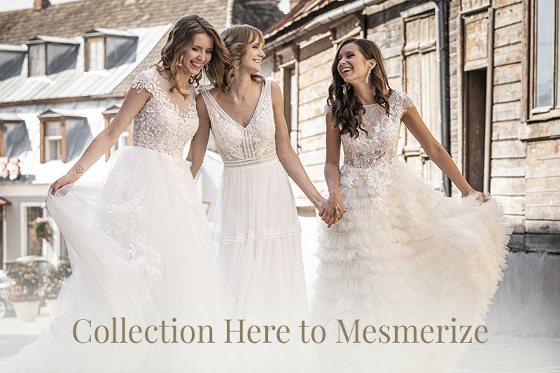 wedding dress collection Here to Mesmerize
